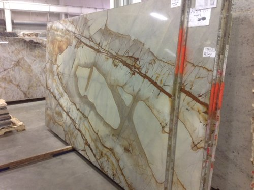 Onyx  Looking for something different? Onyx could be what you are looking for. The selection is better for low traffic areas. Some varieties of this stone can be backlit for a more profound effect!