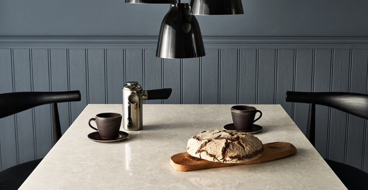 Caesarstone Beautiful color and patterns, this brand also offers polished and honed selections.