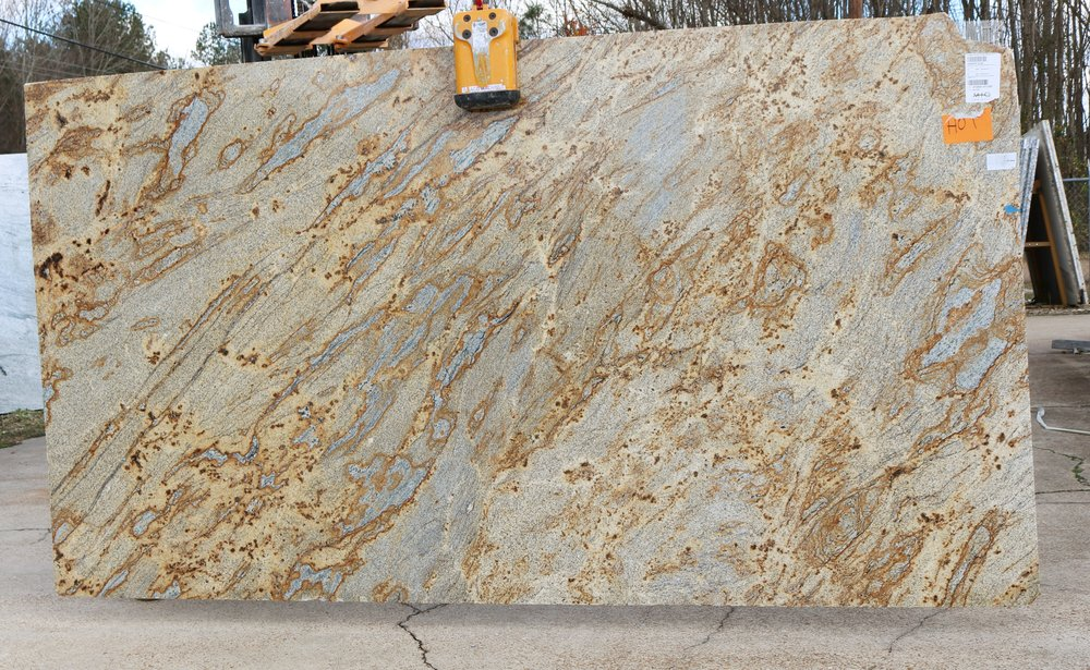 Granite  This selection is currently the most popular variety of stone used for countertops. It can be used for outdoor areas, too! Great for outdoor kitchens and fireplace areas! Check out Stone Inventory!