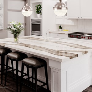 Cambria  Cambria understands the art that goes into creating spaces that are practical and elegant. With 133 selections that range from bold and contemporary to timeless classics, Cambria allows you the freedom of design without compromise.