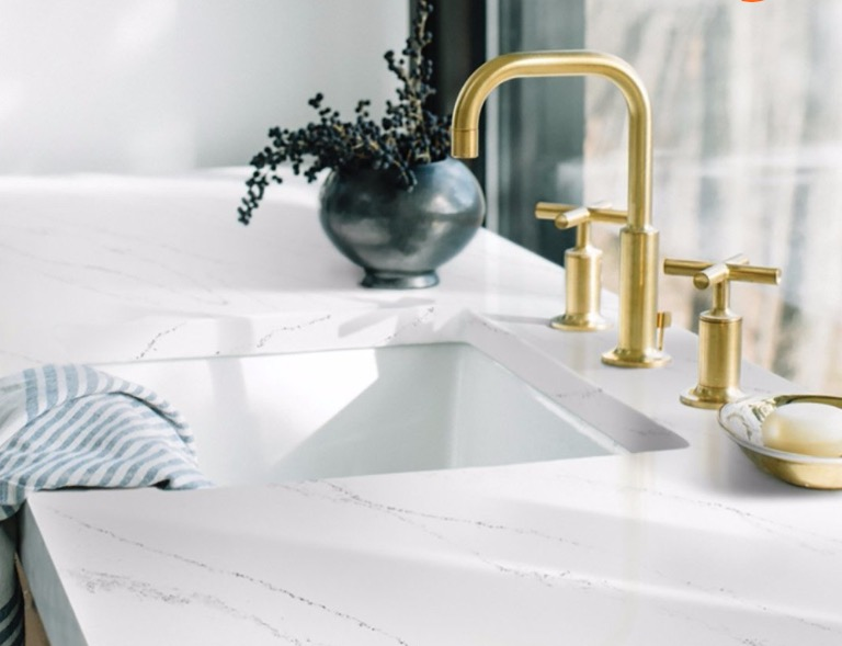 Hanstone  Offering beauty tough enough to stand up to everyday life with classic hues and beautiful movements, Hanstone Quartz celebrates the natural world around us, while being on trend and appealing for all interior aspirations.
