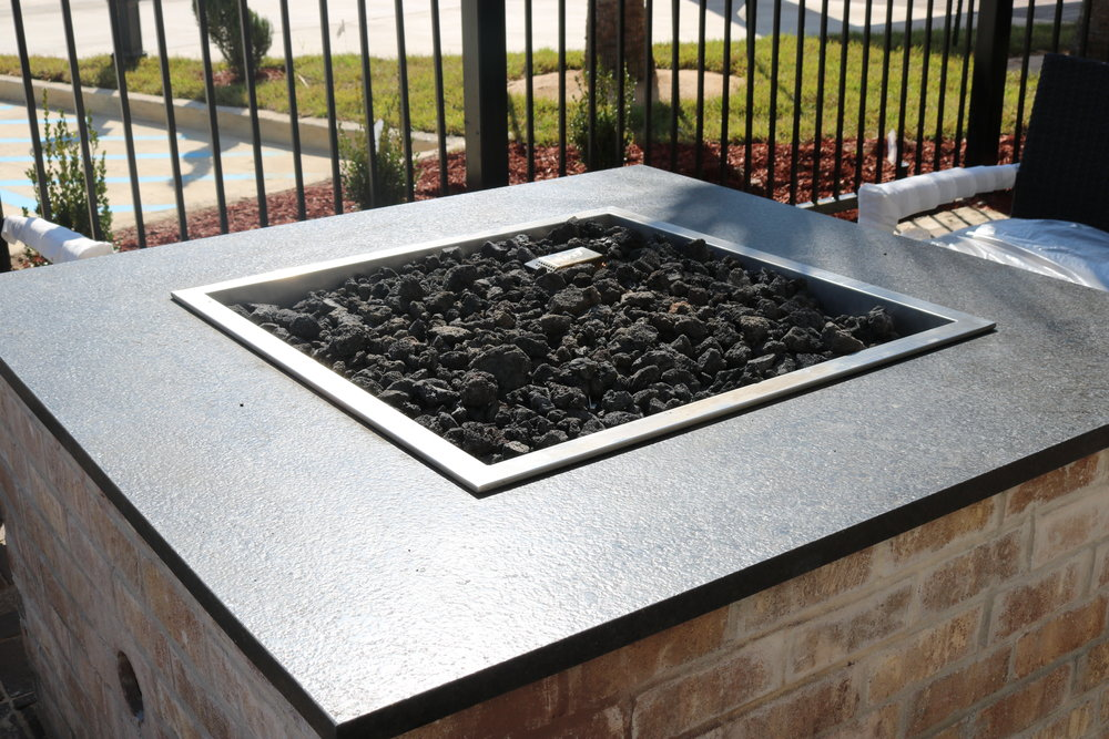3cm Black Pearl Leathered Granite at Hilton Garden Inn Clinton, MS