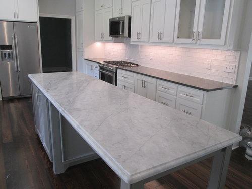 Honed Carrara Marble and Noble Grey Quartz