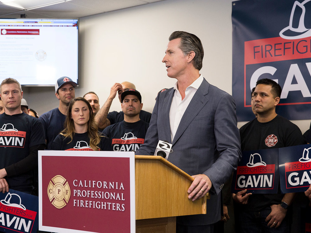 Gavin Newsom: A Clear Choice for Firefighters -