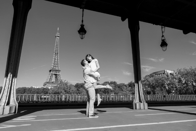 Richard & Caroline - I chose to propose in Paris because it is Caroline's favorite city in the entire world. She would get teary-eyed just thinking about being able to spend time together there...