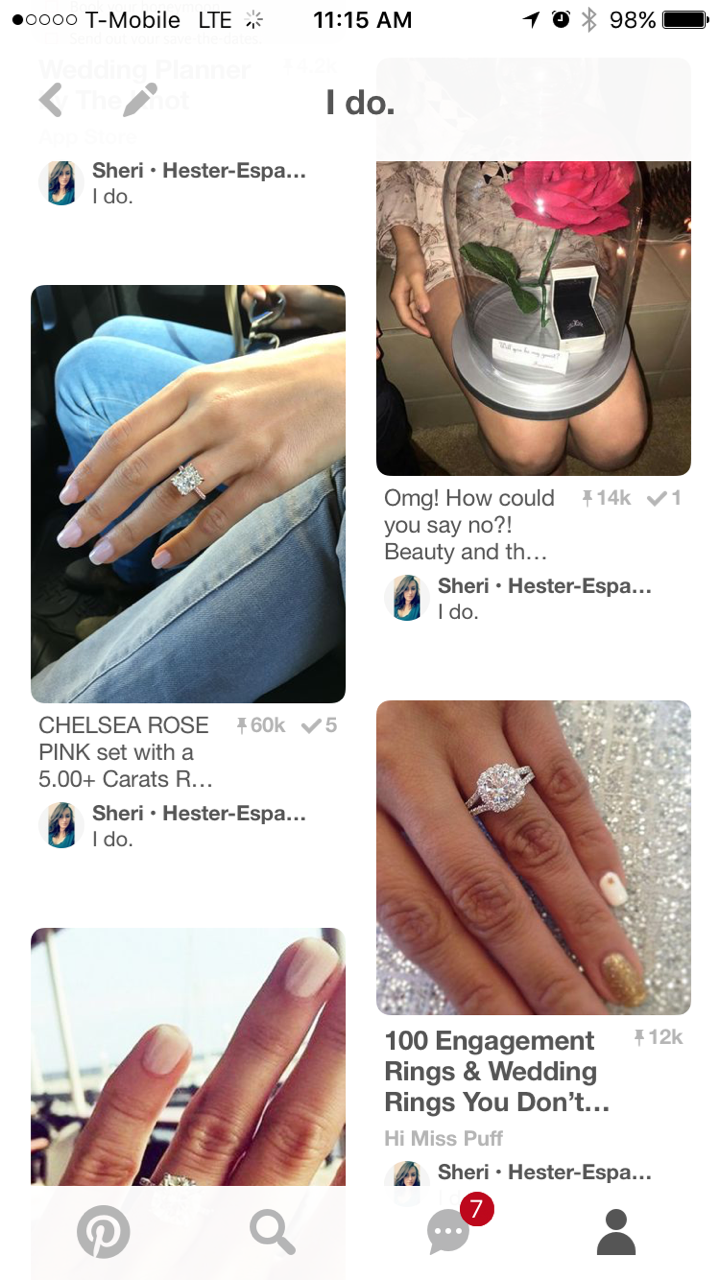 Engagement Rings on private pinterest boards