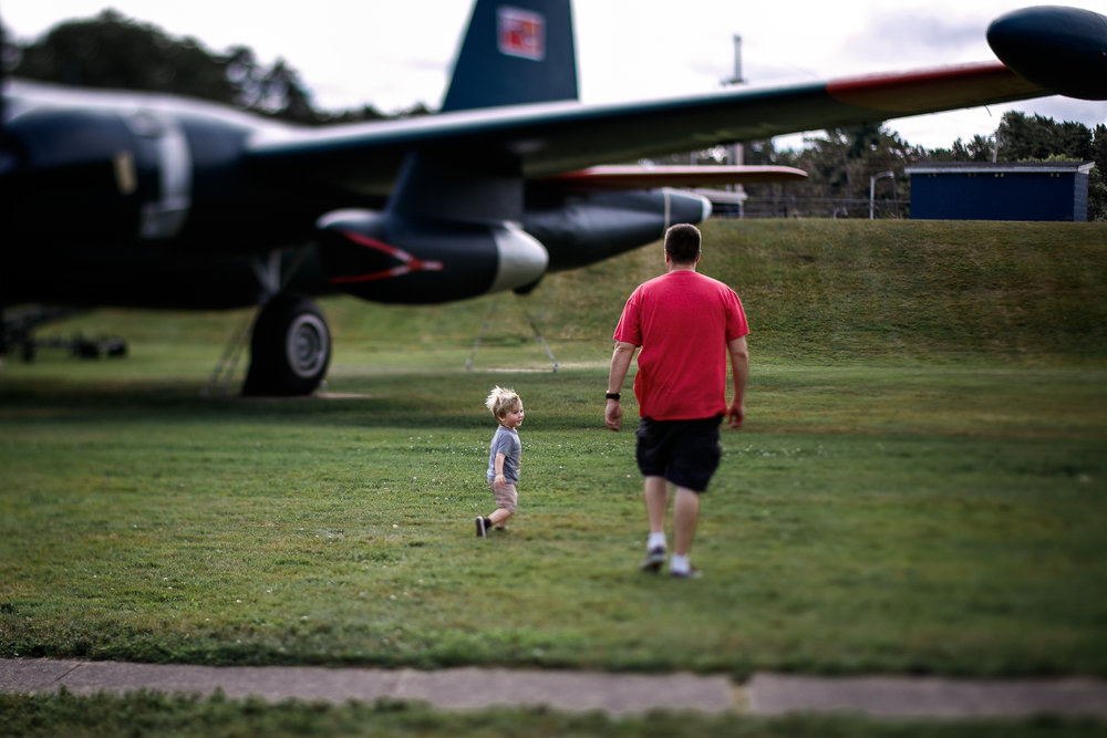 """""""flying"""" with Daddy"""