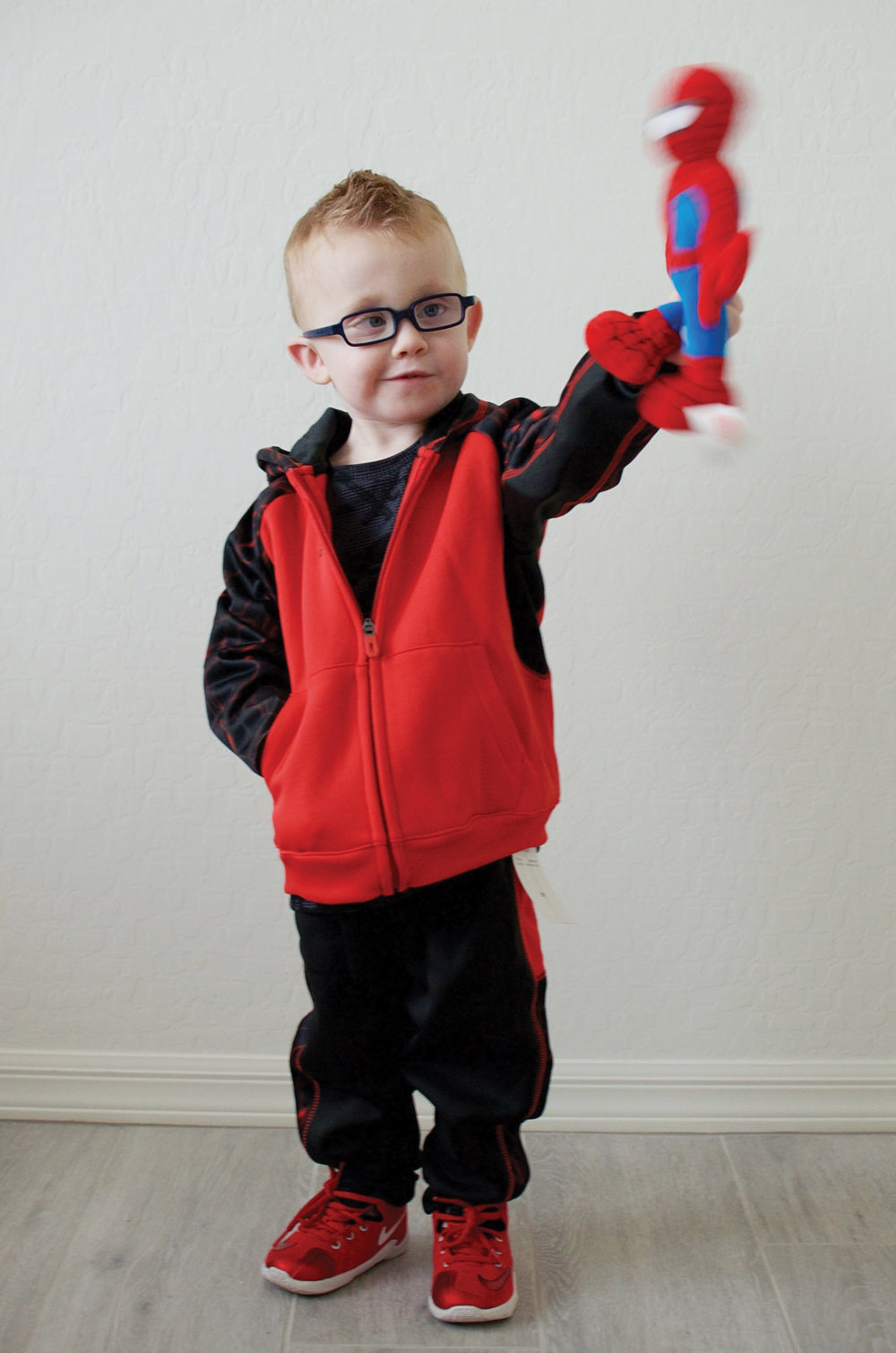 The Reebok tracksuit and long sleeve I couldn't get him out of!