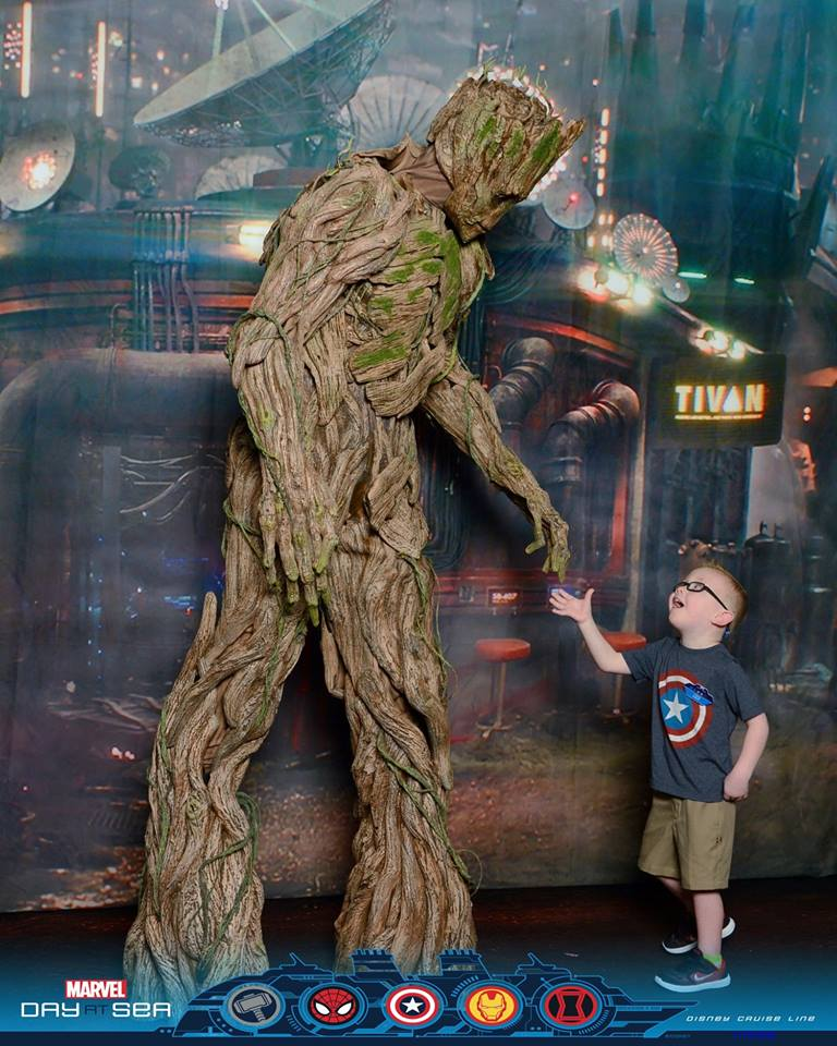 Snag tickets early to meet Groot. My son has in awe, if you couldn't tell.