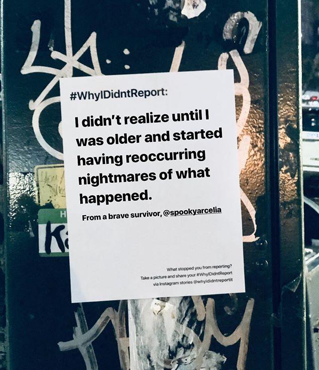 A heartbreaking #whyididntreport story from @spookyarcelia . We always believe you and fight for you. Please send love and hugs❤️ . . #wehearyou #webelieveyou #wefightforyou  #believesurvivors #yourvoicematters #whyididntreportit #believewomen #trustwomen #metoo #metoomovement #sexualabuse #sexualassault #voiceup #speakup #trump #donaldtrump #america #us #usa #newyork #newyorkcity #nyc #victim #timesup #christineblaseyford #christineblaseyford #stopkavanaugh #cancelkavanaugh