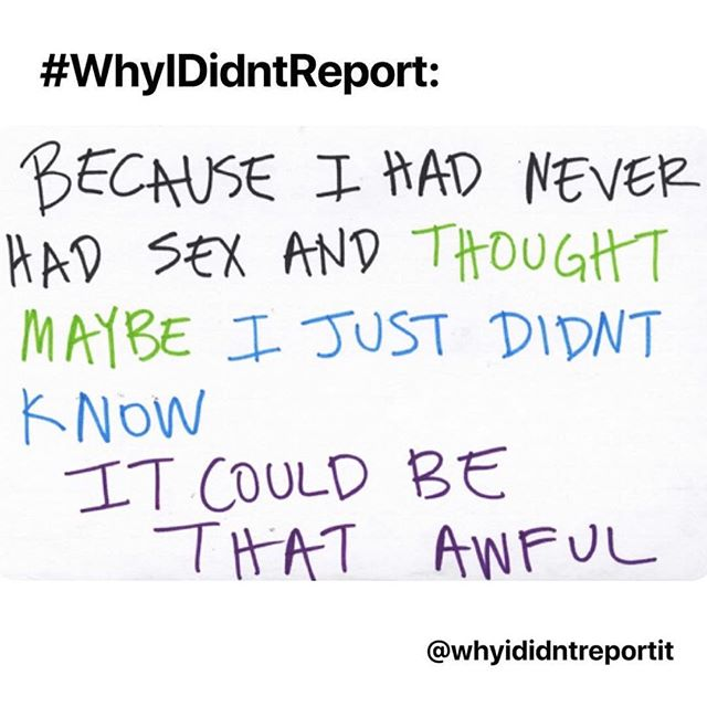 """5th story: I didn't report because I was scared & confused about what really happened. He was my """"friend"""" for 3 years and in my friend group. He stalked my sorority house for days and then my brain shut out the memory for a year until I was raped again by another """"friend"""". . Heartbreaking stories from #whyididntreport pop-up gallery. We always hear you, believe you and fight for you. . .  #wehearyou #webelieveyou #wefightforyou  #believesurvivors #yourvoicematters #whyididntreportit #believewomen #trustwomen #metoo #metoomovement #sexualabuse #sexualassault #voiceup #speakup #trump #donaldtrump #america #us #usa #newyork #newyorkcity #nyc #victim #timesup #christineblaseyford #stopkavanaugh #cancelkavanaugh"""