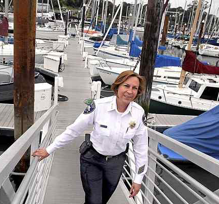 Latisha Marshall, Santa Cruz Harbormaster. (Photo credit: Shmuel Thaler - Santa Cruz Sentinel)