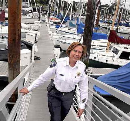 Latisha Marshall, Santa Cruz Harbormaster. (Photo credit: Shmuel Thaler - Santa Cruz Sentinel)