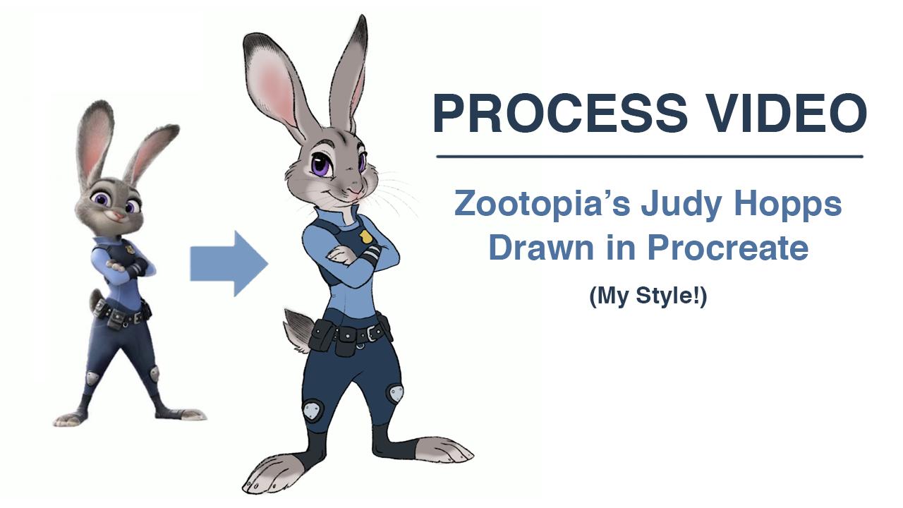Eccezionale Process Video: Judy Hopps from Zootopia Fan Art — Thornwolf | The KC27