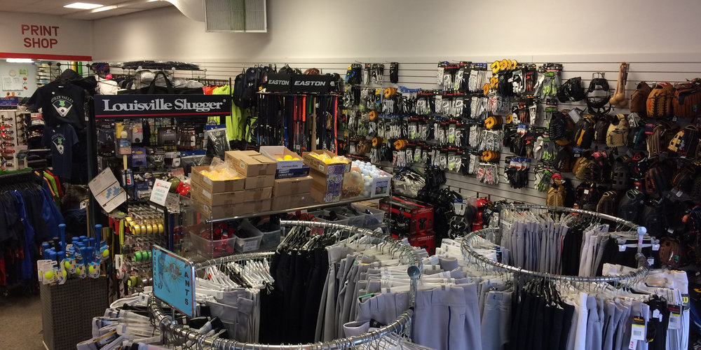 sports equipment store