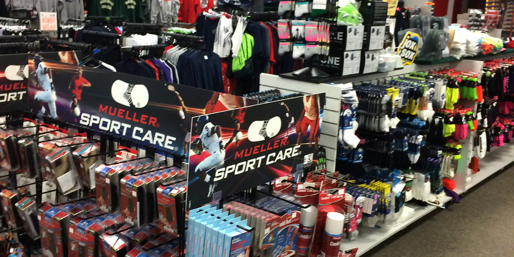 inside your local sports equipment store