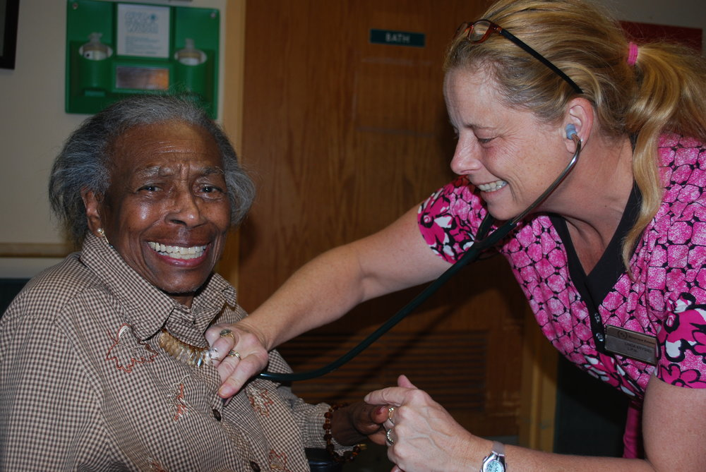 Our skilled nursing staff make certain each of our residents is treated with dignity and respect.