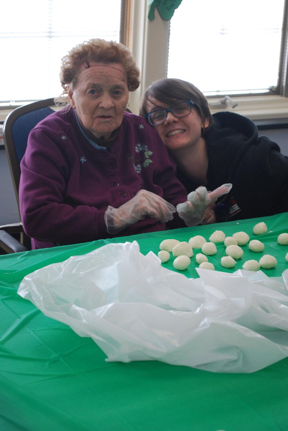 Gloria and Shane making Irish Potatoes