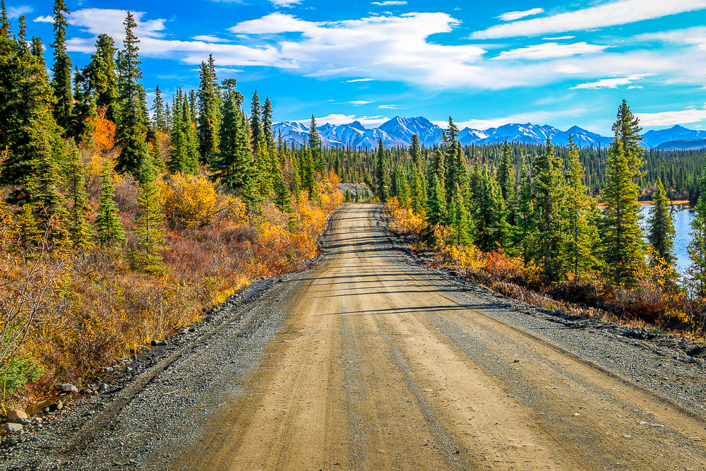 Nabesna Road in Alaska