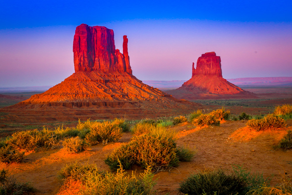 Dawn in Monument Valley, AZ