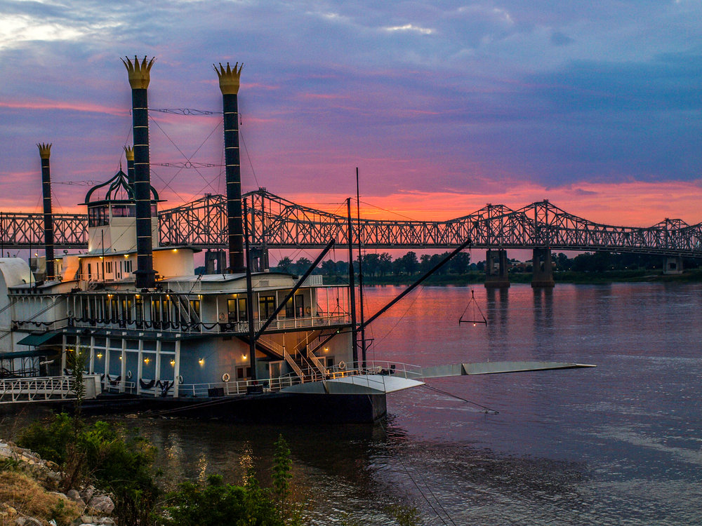 Mississippi River Sunset, Natchez, MS
