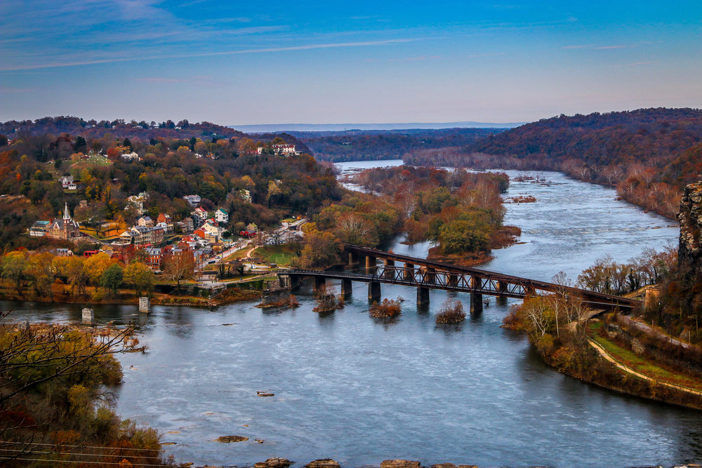 Harpers Ferry from Split Rock
