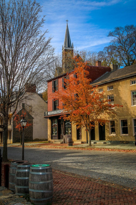 Shenandoah Street in Harpers Ferry