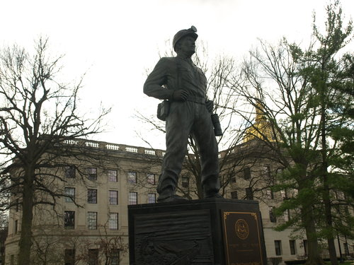 Coal Miner Statue on the West Virginia Capitol Grounds in Charleston