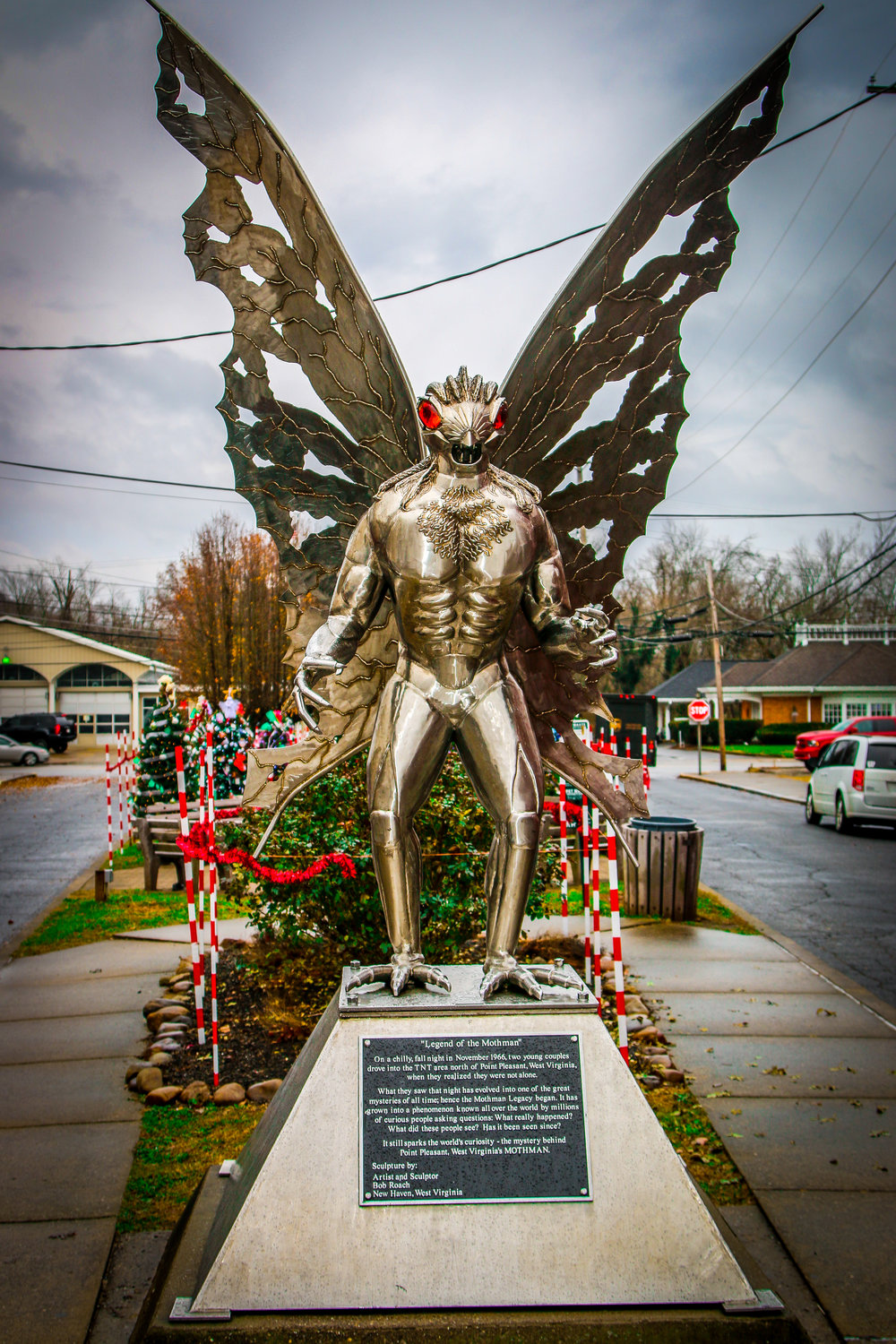 Mothman Statue in Point Pleasant