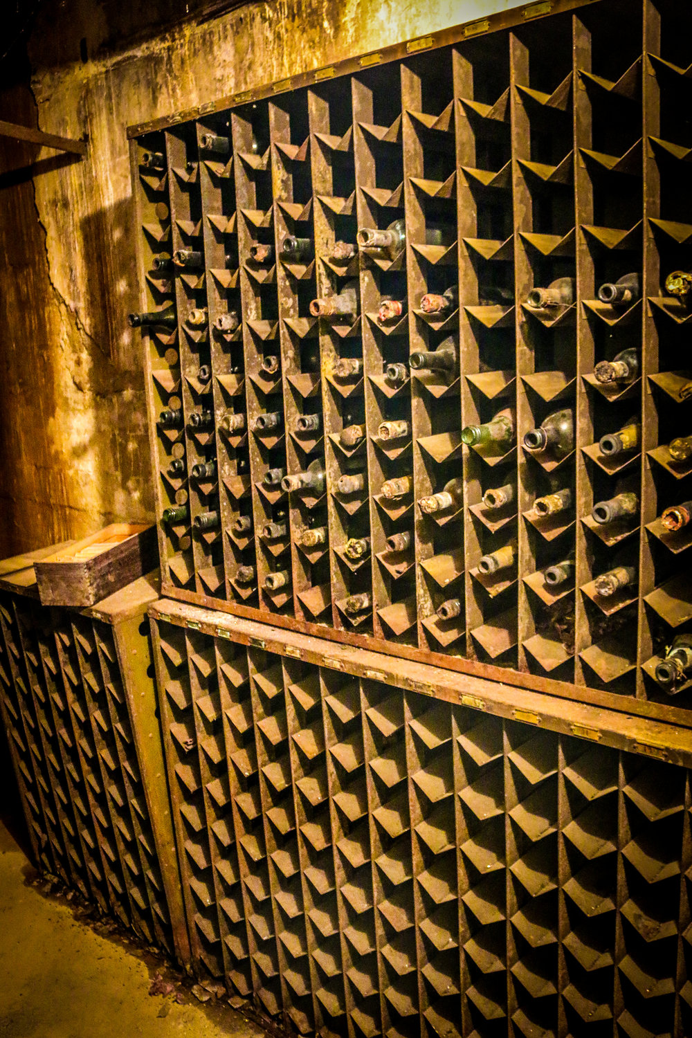 One Wall of the Wine Cellar