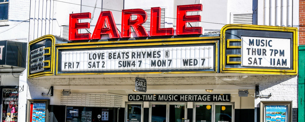The Historic Earle Theatre in Mount Airy, North Carolina