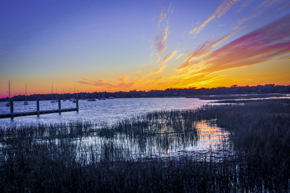 Sunset from Beaufort, South Carolina