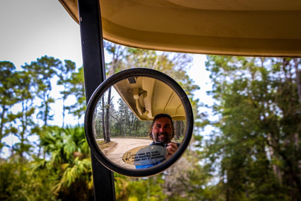 Enjoying My Golf Cart