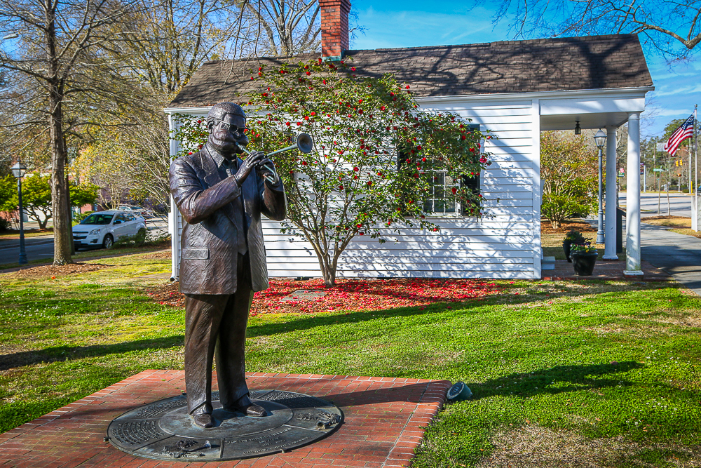 Dizzy Gillespie Statue in Downtown Cheraw