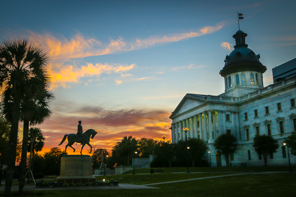 Sunset at the State House