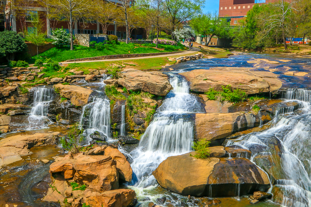 Reedy River Falls in the Heart of Downtown Greenville