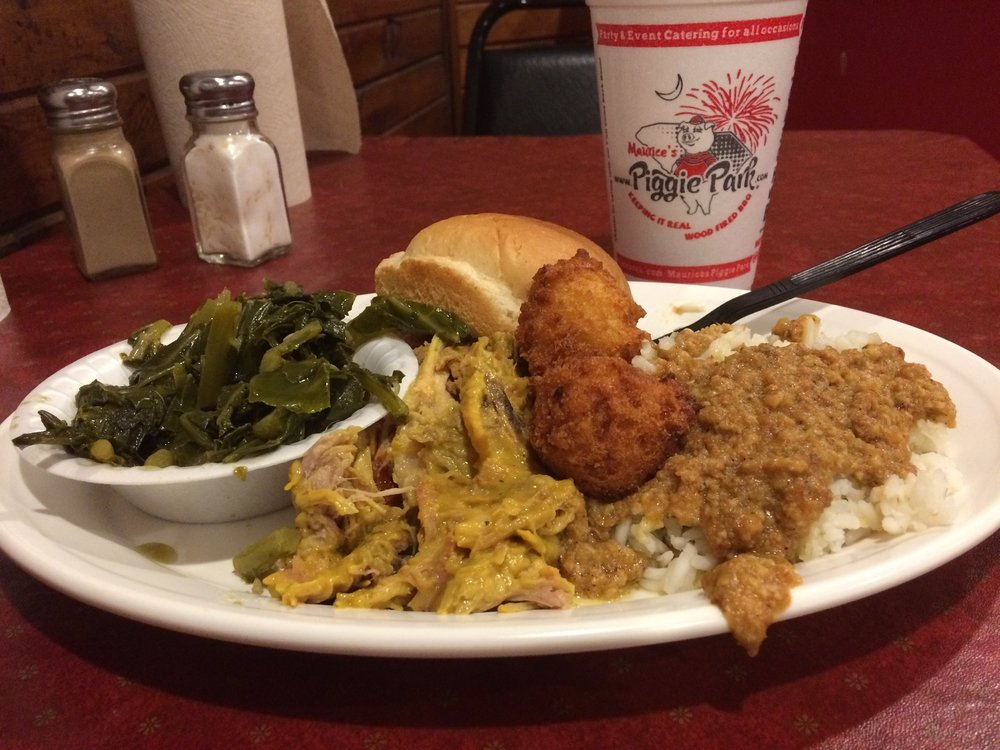 Mustardy Barbecue and Hash at Maurice's
