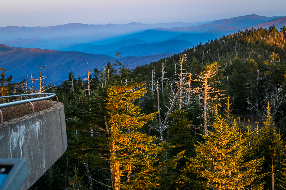 Dawn on Clingmans Dome