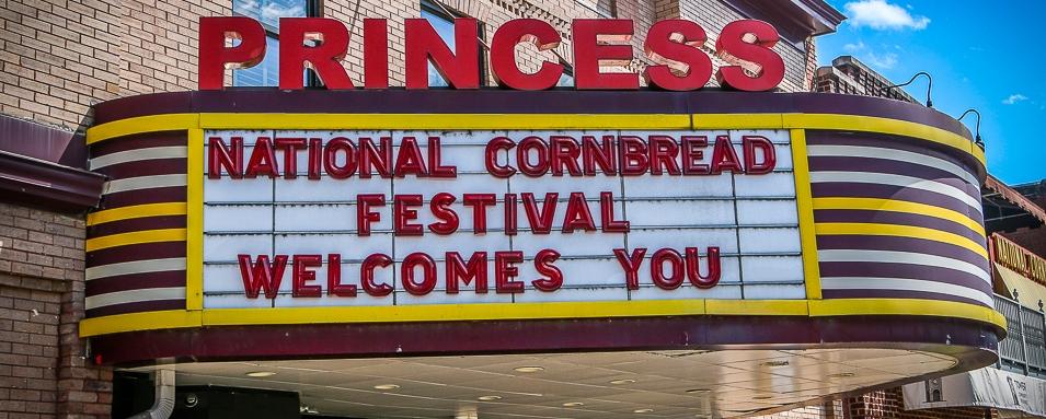 cornbread festival sign