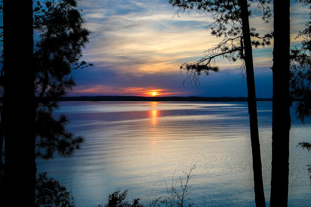 Sunset at Strom Thurmond Lake