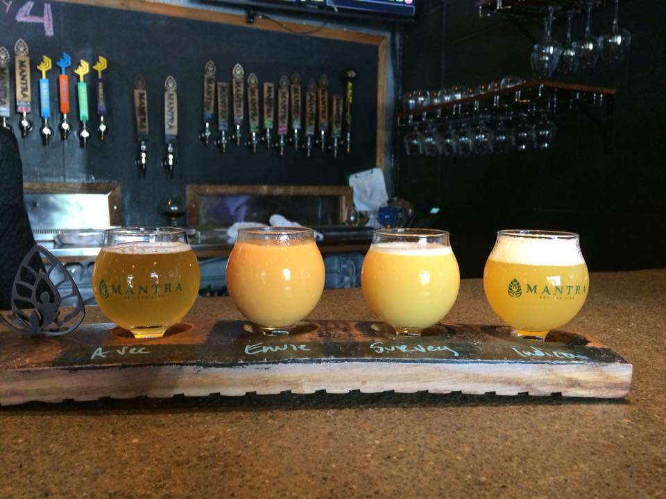 Beer Flight at Mantra