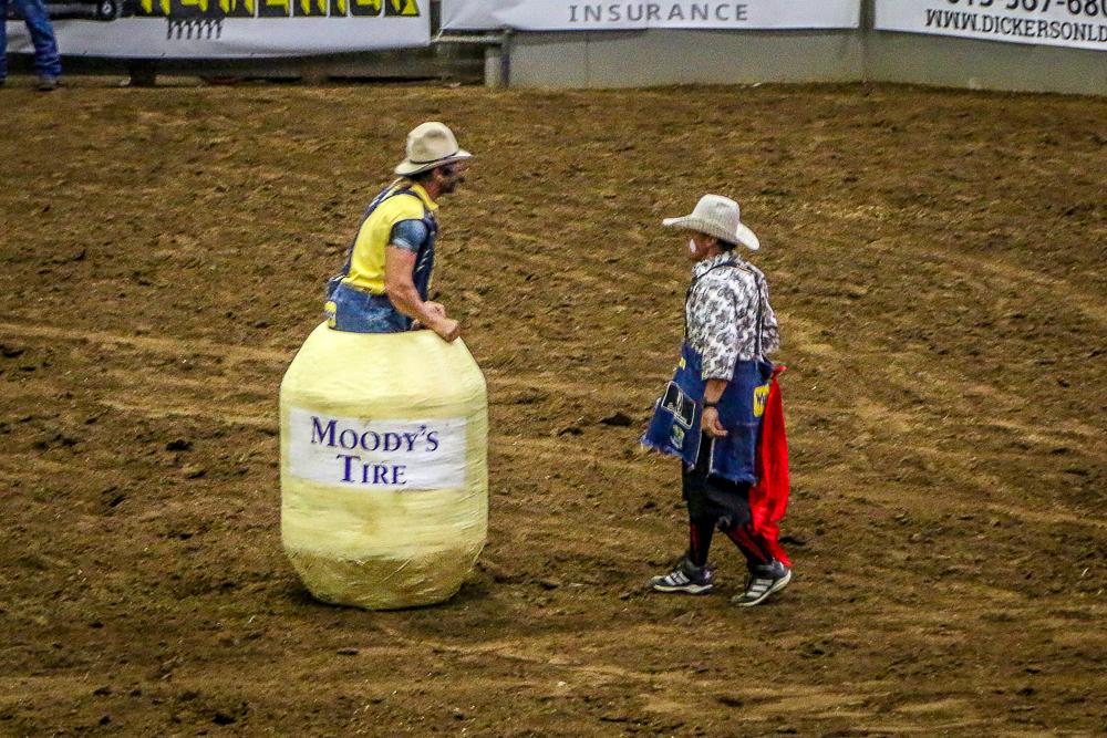 Rodeo Clowns Keeping Everyone Safe