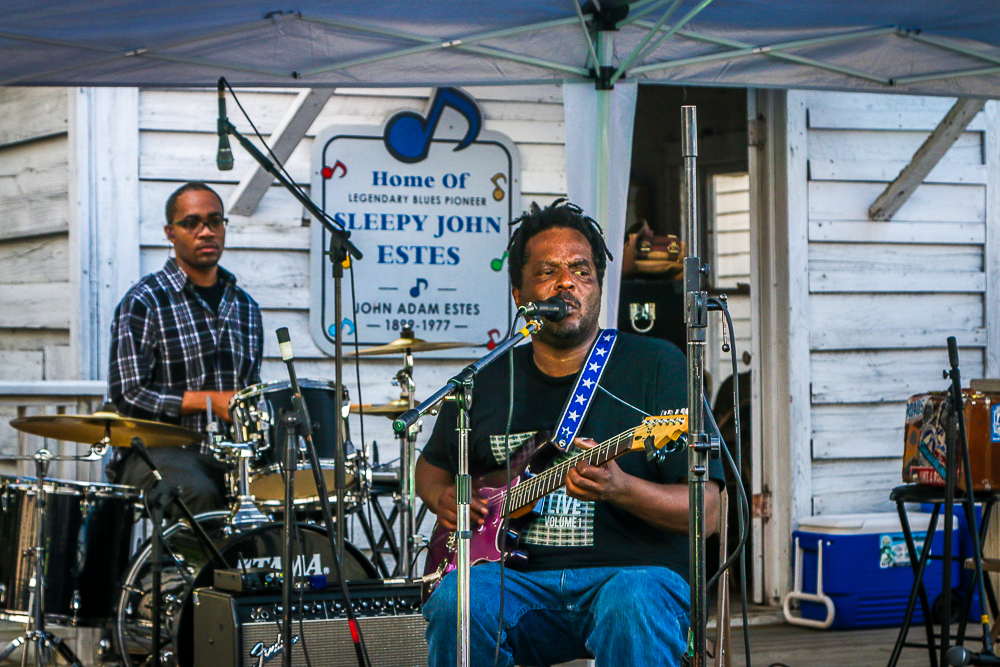 Lucious Spiller at the Exit 56 Blues Fest