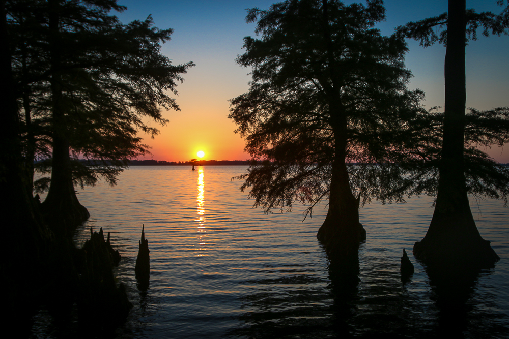 Sunset at Reelfoot Lake