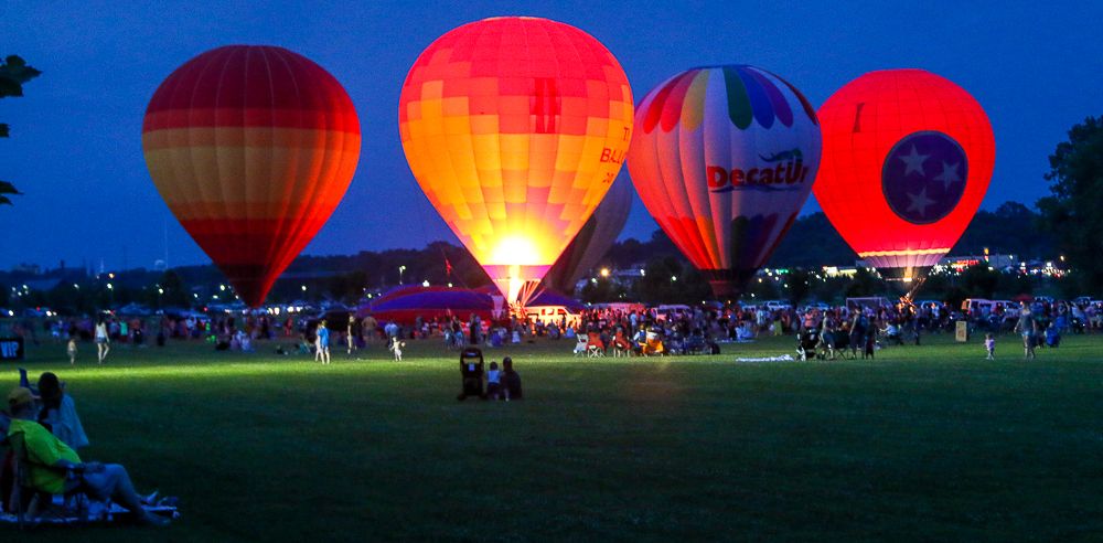 Balloon Glow in Clarksville, Tennessee