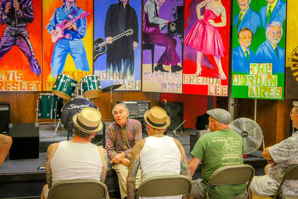 Henry Telling Stories at the Rockabilly H.O.F.