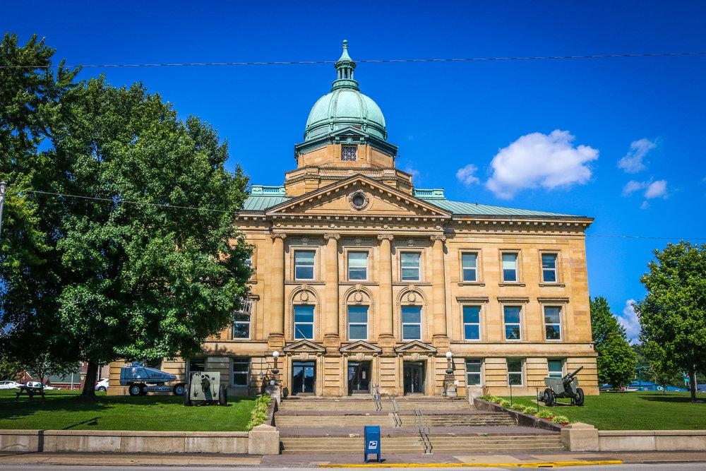 courthouse big building ironton ohio