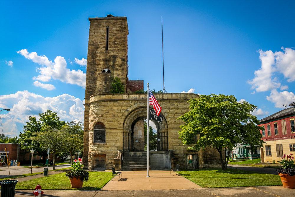memorial hall ironton ohio