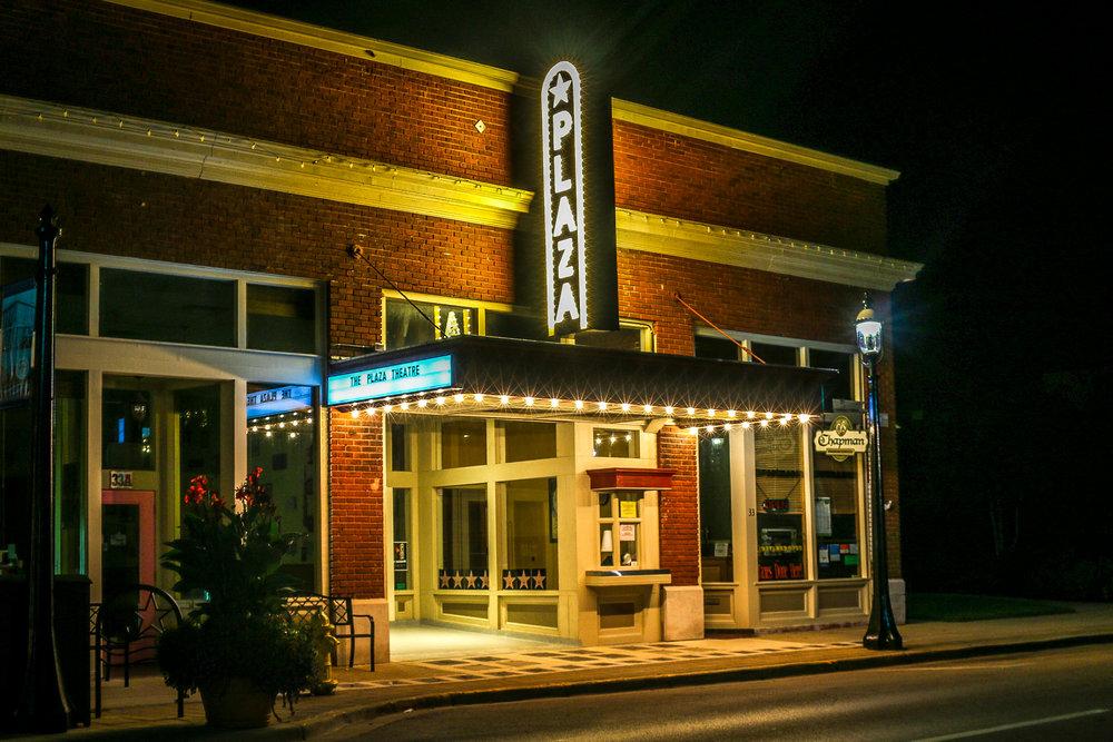 plaza theater night downtown Miamisburg Ohio