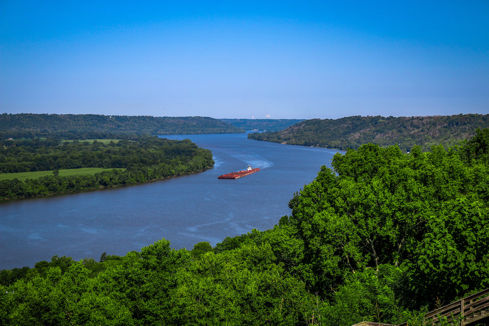 Looking West Down the Ohio River
